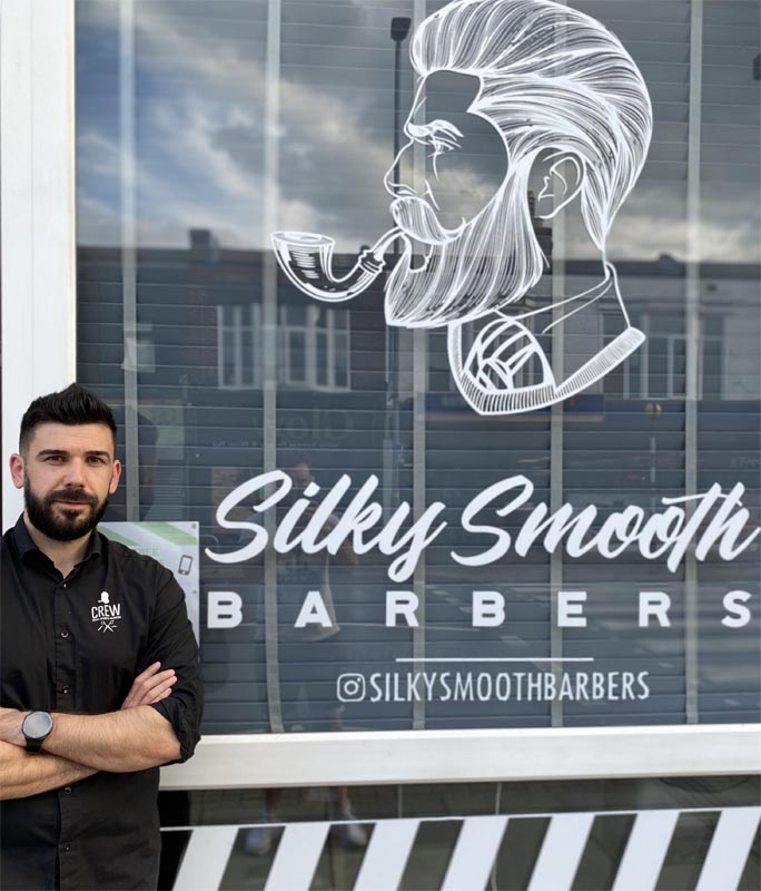 owner andrei budai silky smooth barbers portsmouth